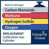 Calibration Gas Carbon Monoxide, Hydrogen Sulfide, Methane, Oxygen