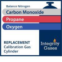Calibration Gas Carbon Monoxide, Propane Equivalent, Oxygen IG-PN-889