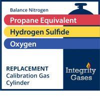Calibration Gas Hydrogen Sulfide, Propane Equivalent, Oxygen IG-PN-1902