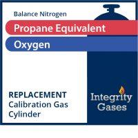 Calibration Gas Propane Equivalent 50% LEL (Methane 1.62%), Oxygen 18%